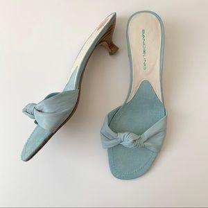 Bandolino light blue open toe heels